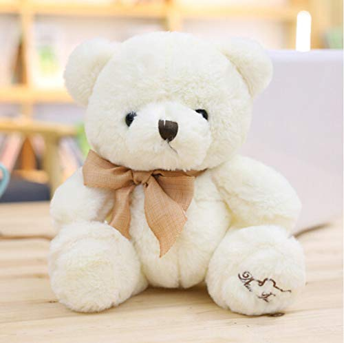 NOWPST Cartoon Bär Plüsch Stofftier Kinder Geschenk, um Mädchen Klassenkameraden weißen Teddybär Höhe 20cm zu senden -
