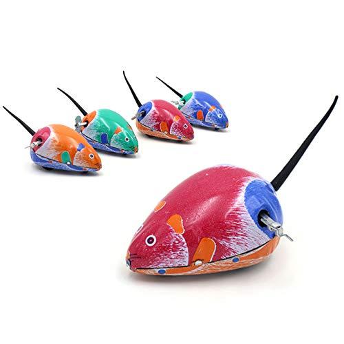 iwobi 5 Stücke Aufziehspielzeug Aufziehfigur Tierfigur Wind Up Figur Uhrwerk Spielzeug Weihnachten Geschenk für Kinder