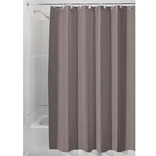 iDesign Duschvorhang aus Stoff, waschbarer Badewannenvorhang aus Polyester in der Größe 180,0 cm x...