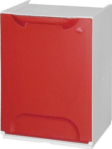 ART PLAST R34 - / 1R BOX PARA LA SEPARACION DE RESIDUOS  PLASTICO  ROJO / BLANCO