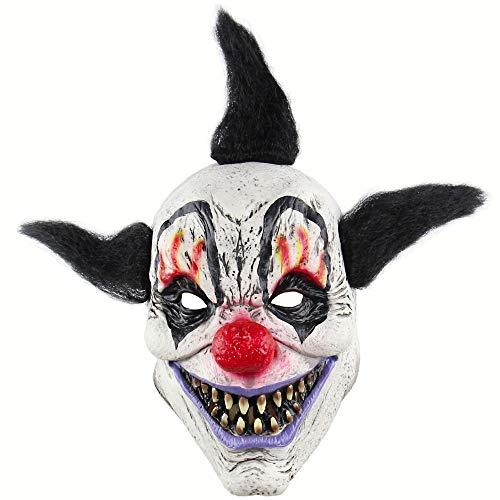 Für Erwachsene Kostüm Mörder Clown - HDNSA Lustige Böse Erwachsene Latex Haar Mörder Joker Clown Kostüm Maske Geisterkarneval Party Cosplay Maske Dekorationen Zubehör