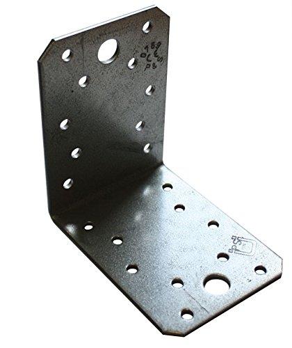 Winkelverbinder, galvanisch verzinkt, entgratet, ohne Sicke 90x90x65x2.5 (50 ST)