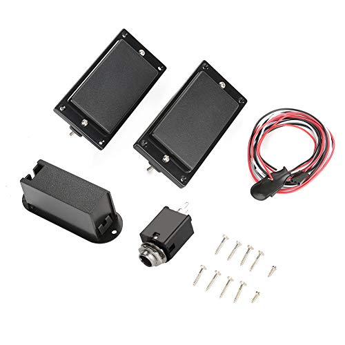 1Set Humbucker, Double Coil Size Neck and Bridge Pickups Humbucker Set for Electric Guitar
