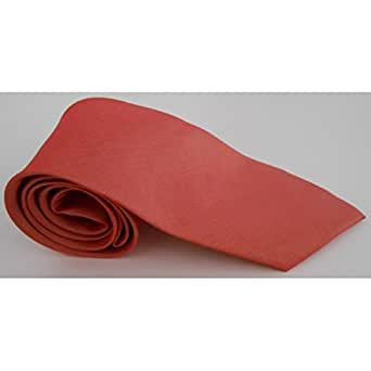 Cravate slim en soie unie Thai Rose saumon
