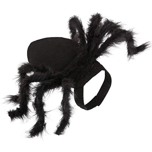 Katze Hunde Kostüm Schwarz - Masrin Spinnenflügel Kleidung für Welpen Katzen Halloween Haustier Katze Hund Kostüme Süßes Kleid (Schwarz)