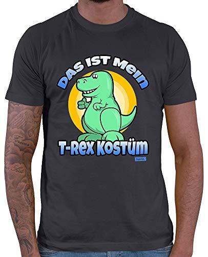 HARIZ  Herren T-Shirt Das Ist Mein T Rex Kostüm Karneval Verkleidung Inkl. Geschenk Karte Dunkel Grau ()