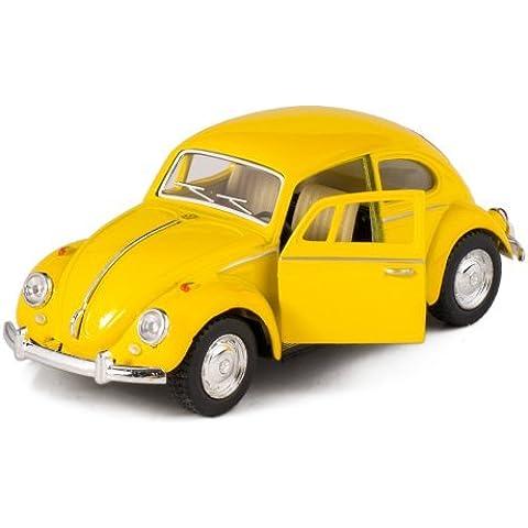 Yellow 1967 Classic Die Cast Volkwagen Beetle