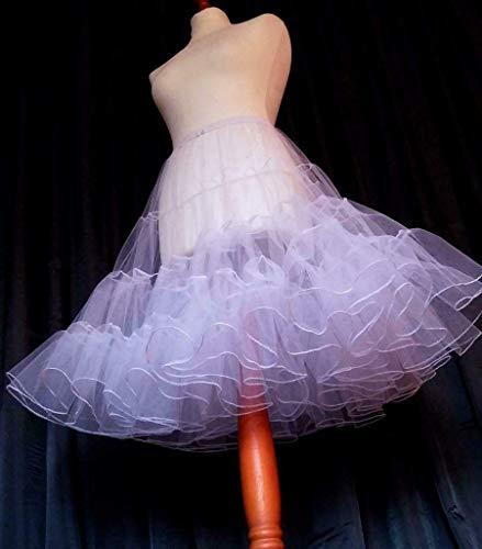 Petticoat Farb- u. Längenwahl Tüllrock Unterrock Rockabilly