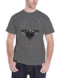 Game Of Thrones T Shirt All Men Must Die raven Herren Nue Grau all sizes