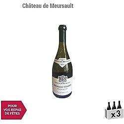 Meursault 1er Cru Charmes Blanc 2011 - Château de Meursault - Vin AOC Blanc de Bourgogne - Cépage Chardonnay - Lot de 3x75cl