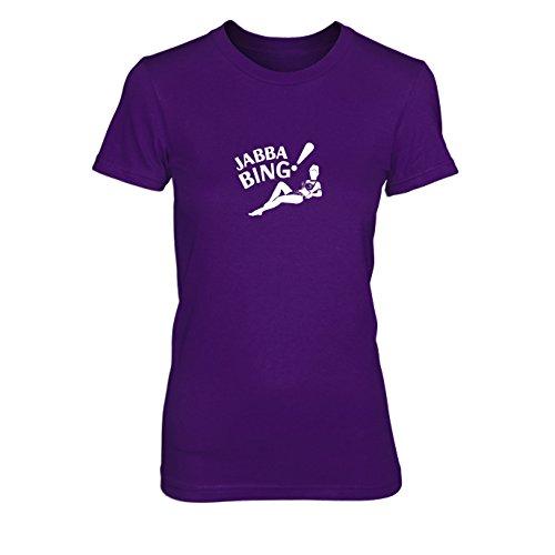 Jabba Bing - Damen T-Shirt, Größe: XL, Farbe: - Leia Und Jabba Kostüm