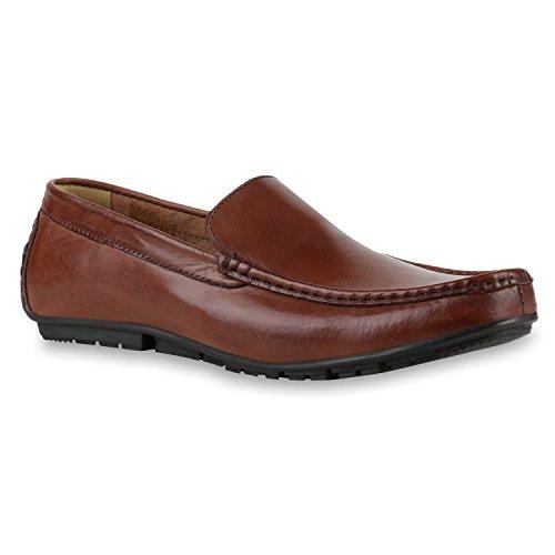 Schuhe Klassische Dunkelbraun Business Leder Herren Profilsohle Slipper qXq6r