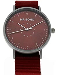 Reloj mr. boho 62-ip11 iron burgundy casual metallic