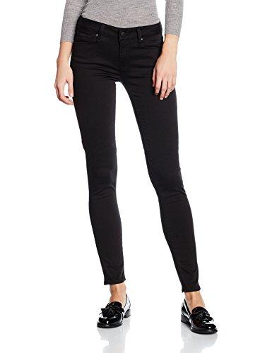 Mavi Damen Skinny Jeans Adriana, Schwarz (Double Black Str 14500), W25/L32 (Herstellergröße: 25/32) (Slim-fit-denim Gewaschen)