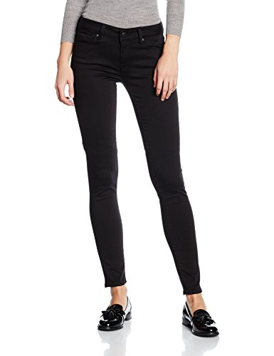 Mavi Damen Skinny Jeans Adriana, Schwarz (Double Black Str 14500), W29/L30 (Herstellergröße: 29/30) (Mavi Jeans Damen)