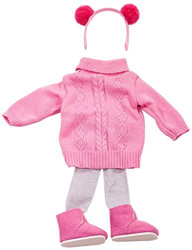 Götz 3402681 Kombination Knit Braidy - Puppenbekleidung Gr. XL - 5-teiliges Bekleidungs- und Zubehörset für Stehpuppen 45 - 50 cm