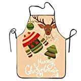HTETRERW Slim Skull Apron for Baking Crafting Gardening Cooking Durable Easy Cleaning Creative Bib for Man And Woman Standar Size
