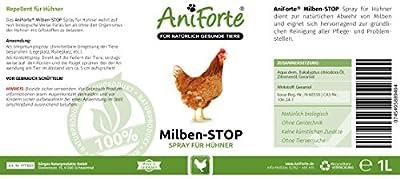 AniForte Milben-Stop Spray 1 Liter - Naturprodukt für Hühner von Görges Naturprodukte GmbH auf Du und dein Garten