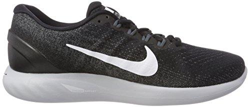 Nike Wmns Lunarglide 9, Chaussures de Running Femme Noir (Blackwhitedark Gr E Y Wolf Grey 001)