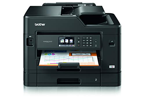 Brother MFC-J5730DW 4-in-1 Farbtintenstrahl-Multifunktionsgerät (2 x 250 Blatt Papierkassette, Drucken, scannen, kopieren, faxen) - Wechseln Netzwerk-drucker