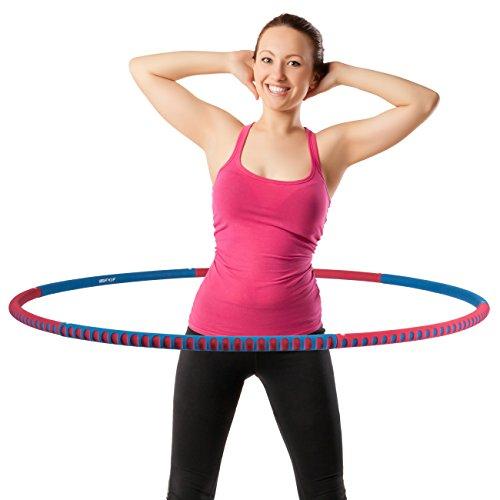 Hula Hoop Reifen 0,8 kg WEIGHT HOOP aus Metall und Schaumstoff Farbe: rot&blau
