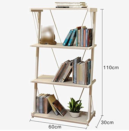 Librería Libro Libro 60 (L) * 30 (W) * 116 (H) Librería Cuatro Capas Z Tipo Blanco