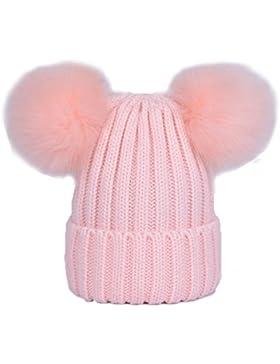 Berretto Beanie Con Pompon ECYC® Cappello Elastico Invernale 0f6dc2383107