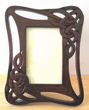 Celtic Sculpture sur bois ajouré Photo Frame 6