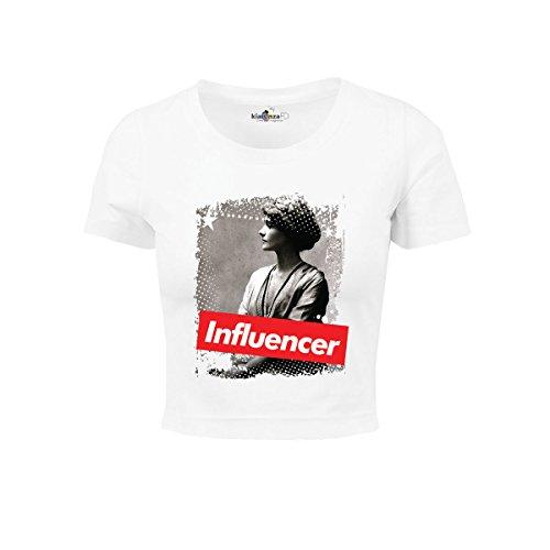 KiarenzaFD Damen Influencer Coco Fashion Chanel Star Legend Shirts, KTOD00005-XS-white, weiß, XS -