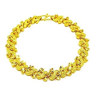 Women Gold Filled Romantic 3-coeur Design Bracelet Chain Link Bracelet 19cm