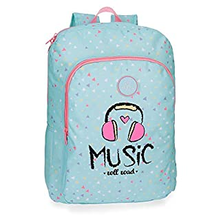 41DBSwtJJVL. SS324  - Mochila escolar 40cm adaptable Roll Road Music