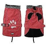 EULSV Wasserdichte große Hundeweste-Jacken-justierbare Haustier-Hundekleidung für große Hunde Retriever-Mantel-reflektierende Haustier-Kleidung Red S