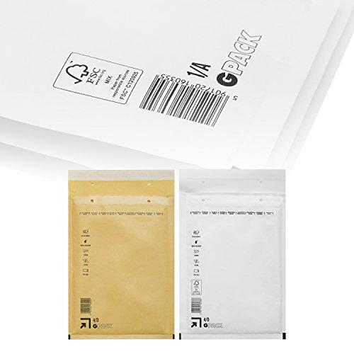 Preisvergleich Produktbild Panorama24 25 Stück Luftpolsterversandtaschen C / 3,  170 x 225mm außen,  braun / gold - weitere Größen wählbar - Versand Tasche Polster Umschlag
