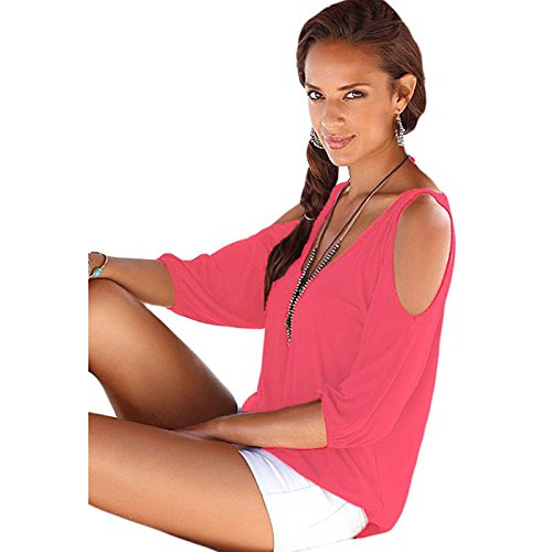 FemPool Damen Bluse Gr. Large, Rot (Thong Classic British)