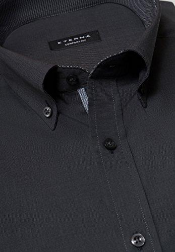ETERNA long sleeve Shirt COMFORT FIT Fil à Fil uni Antracite