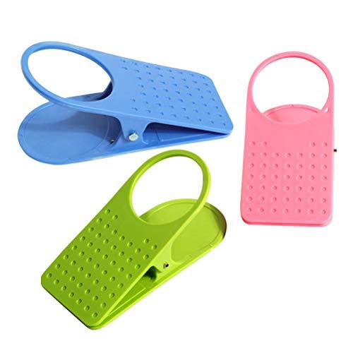 BESTONZON 3 stücke Tragbare Schreibtisch Side Riesigen Clip Trinkbecher Halter Clip Teetasse Clamp Tabletop Gadget (Zufällige Farbe)