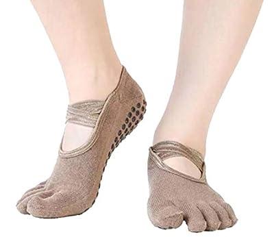 Alion Women's Non Skid Socks with Grips Barre Socks Pilates Yoga Socks