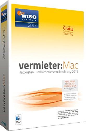 WISO vermieter:Mac 2017 - Heizkosten- und Nebenkostenabrechnung 2016 [Mac]