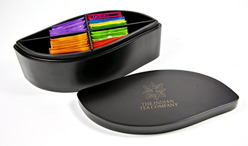 luxurious-and-exclusive-indianteacompany-itc-large-leaf-shaped-tea-chest-box-4-compartment-black-woo