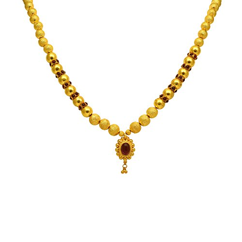 Joyalukkas veda collections 22k oxidized gold necklace aloadofball Image collections