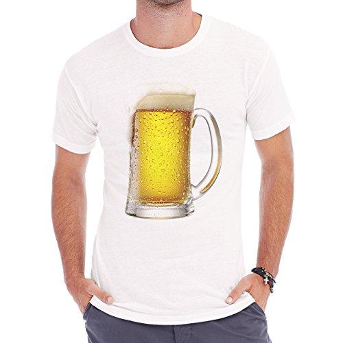 Beer Drink Oktoberfest Glass Cold Herren T-Shirt Weiß