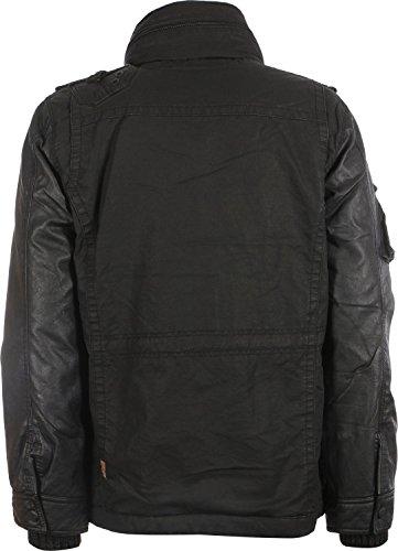 Khujo TOMBOY MIX Fake Leather Herren Jacke Herbst Winter 2014/15 Schwarz