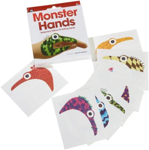 Hand-Tattoos 8er-Set MONSTER (Monster Hand)