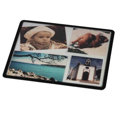 Hama Foto-Mauspad zum Selbstgestalten (mit Fotos, Bildern oder Postkarten, 23 x 19,5 cm) transparent