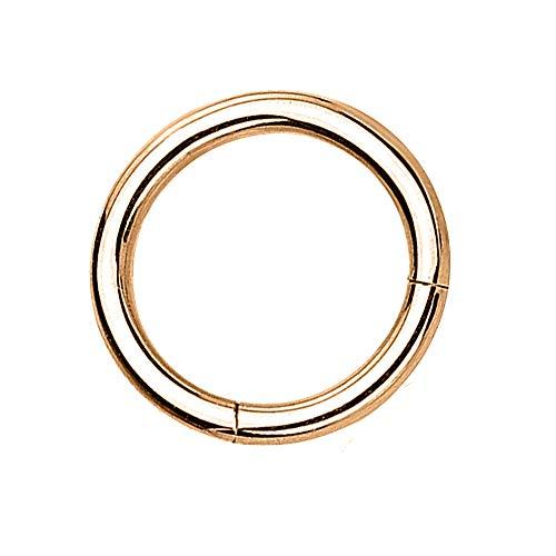 eeddoo Piercing-Ring Segment-Clicker Segment-Ring Rosegold Edelstahl 1,2 mm x 6 mm