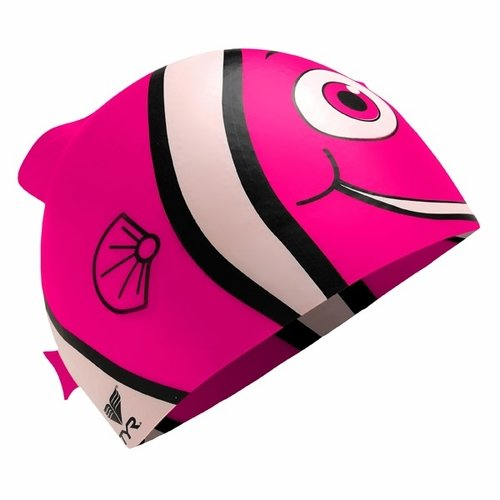 TYR Sport INC Junior Happy Fish Silikon Badekappe, Pink -