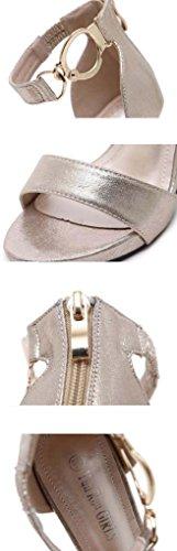 SHEO sandales à talons hauts Sandales à boucles d'oreilles à talons hauts à bas prix ( Couleur : Or , taille : 35 ) Or
