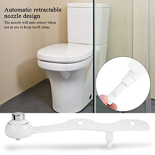 EBTOOLS WC Bidet, Ultradünne 3/8 Bidet Dusch Wasserstufen Hygiene Dusch Bidets Bidetaufsatz mit kaltes Wasser einzelne selbstreinigende Düse für Intimreinigung, 45 * 16.5 *