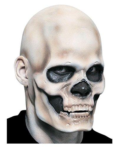 Horror-Shop Weiße Glatzenfolie aus Latex