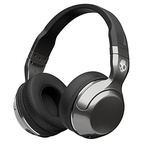 Skullcandy Hesh 2.0 Over-Ear Wireless Bluetooth Kopfhörer mit Mikrofon und Lautstärkeregelung - Silber/Schwarz/Chrom (Skullcandy Over-ear-kopfhörer)